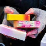 Photos of handmade soap available at Cardiff Market